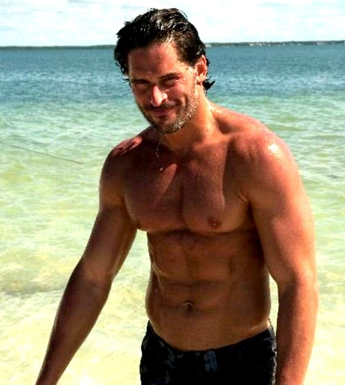 Shirtless Wet Joe Manganiello At The Beach Yum