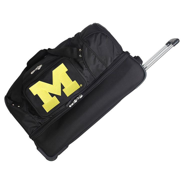 NCAA Michigan Wolverines 27'' Rolling Drop Bottom Duffel