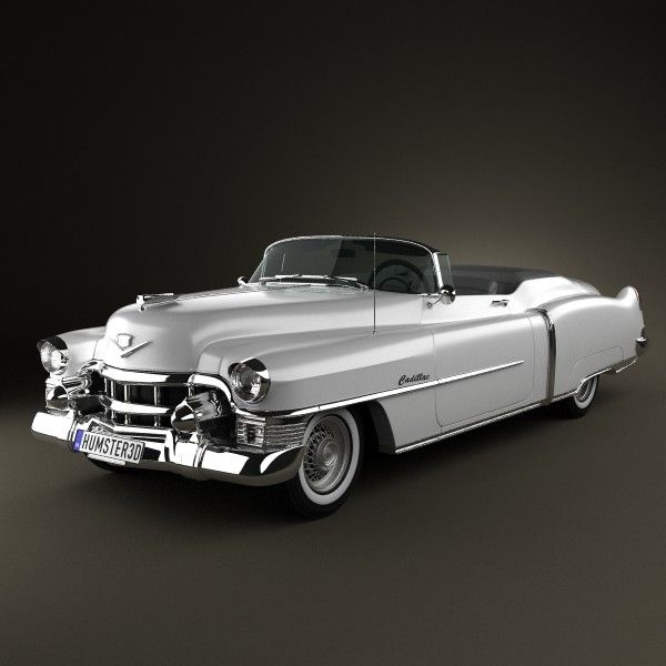 Cadillac Eldorado Convertible 1953 3D model