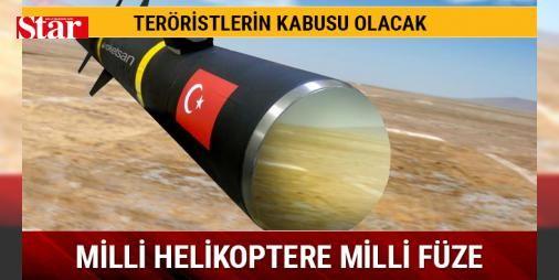 Milli helikoptere milli füze : Taarruz ve taktik keşif görevleri için milli imkanlarla üretilen ATAK helikopterine milli tanksavar füze sistemi UMTAS entegre ediliyor. Bununla ilgili test atışları başladı.  http://www.haberdex.com/turkiye/Milli-helikoptere-milli-fuze/94132?kaynak=feeds #Türkiye   #milli #füze #ediliyor #entegre #UMTAS