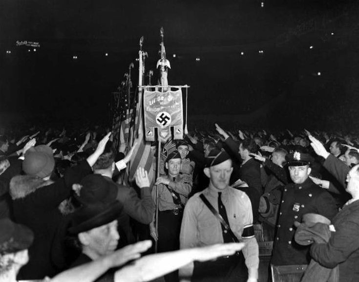 """In 1939, theGerman American Bundorganized a rally of 20,000 Nazi supporters at Madison Square Garden in New York City. Marshall Curryhas compiled footage of the event inA Night at the Garden. """"The first thing that struck me was that an event like this could happen in the heart of New York City,"""" Curry tellsThe … Continue reading """"A Night At The Garden: Incredible Footage Of The American Nazi Rally In New York – February 20 1939"""""""