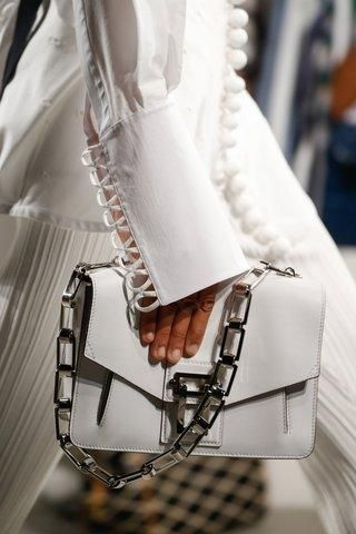 Proenza Schouler white chain purse