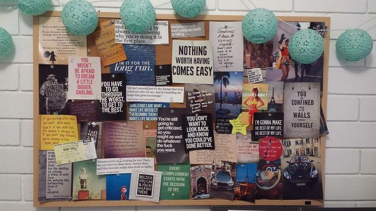 My vision board :)  Think positive, and positivity will come !