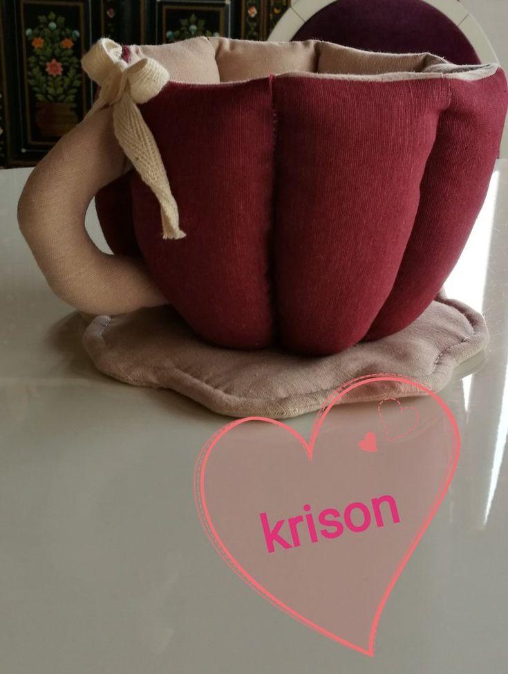 Tazza in tessuto fatta a mano stile rustico,shabby, moderno., by krison, 15,00 € su misshobby.com