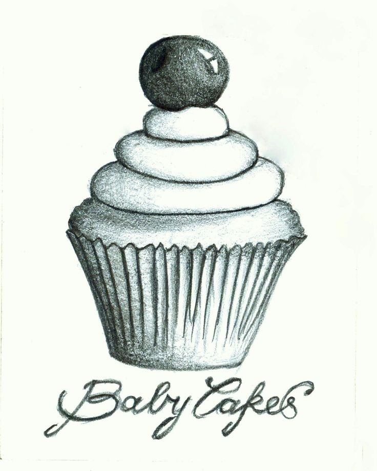 Two years ago, I sat at a table scribbling at a piece of paper, and a dream was born.. Cupcake Drawing