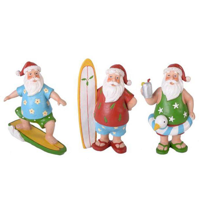 Australian santa claus christmas surf pool beach sun