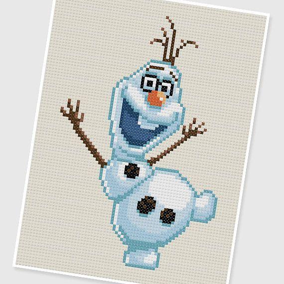 PDF Cross Stitch pattern : 0207.Olaf (Frozen) by PDFcrossstitch