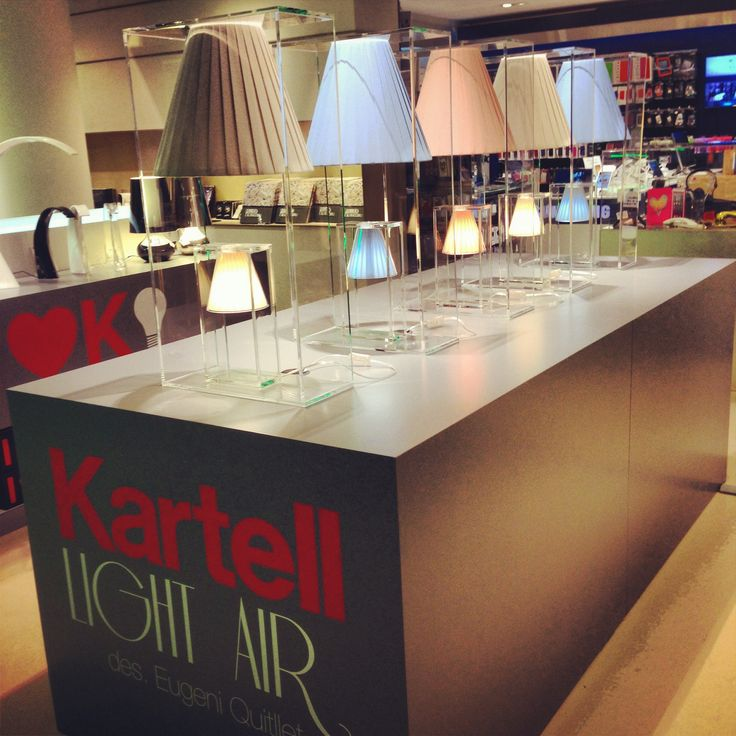 #Kartell Light Air at #LaRinascente, #Milano Find out the magic #light #design of Eugeni Quitllet Now on sale!