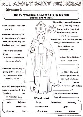 St Nicholas Activity Poster