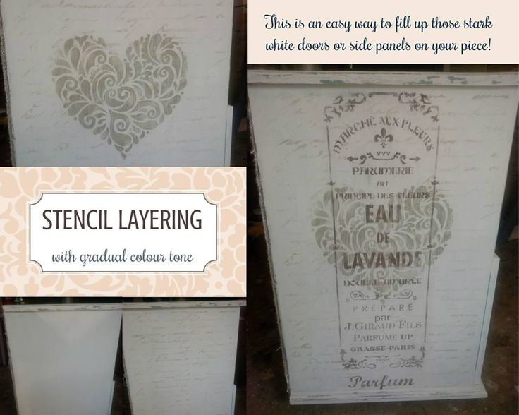 Petite Rouge stencils are perfect for layering and can be mixed and matched