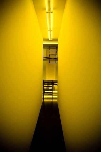 """""""Dream Passage with Four Corridors"""" by Bruce NAUMAN (yellow side)#2.psd Centre Georges Pompidou-Metz, 2010"""