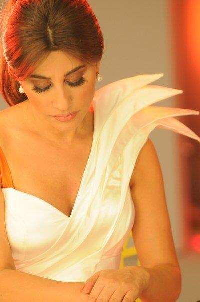 Najwa Karam by TONY YAACOUB #fashion #dress #design #celebrities #lebanon #lebanese #gown #white