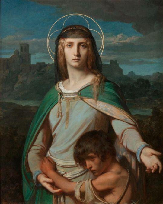 Alexandre Cabanel (1823-1889) - Saint Monica, 1845