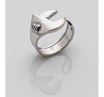Δαχτυλίδι γαλλικό κλειδί της TOOLS by xatziiordanou #ring #monkey_wrench #silver #man