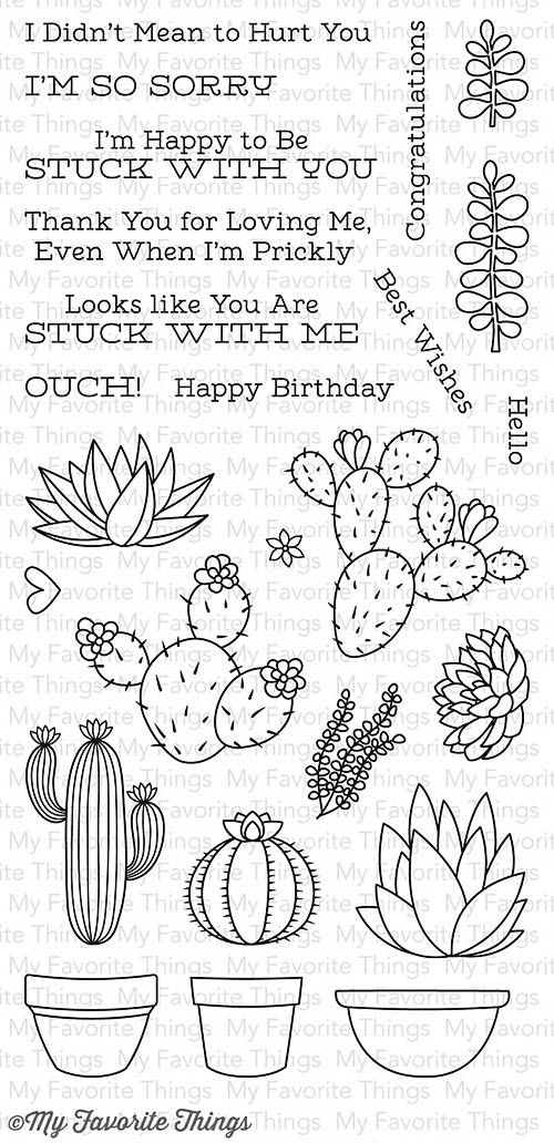"""MFT STAMPS: Sweet Succulents (4"""" x 8.5"""" Clear Photopolymer Stamp Set) This 25 piece set includes Sweet Succulents: - Plants (10) 1 3/8"""" x ¾"""", 1 7/8"""" x 1 ¾"""", 1 5/8"""" x 1 ½"""", 1"""" x 5/8"""", 1"""" x 1 5/8"""", 1"""" x"""