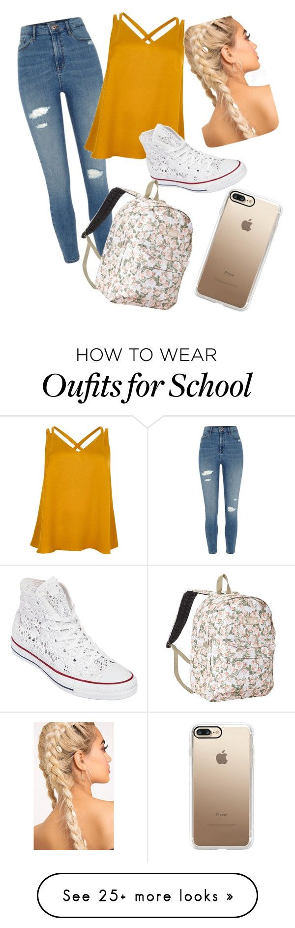 """Untitled #1"" by s-worsey on Polyvore featuring River Island, Converse, Everest and Casetify"