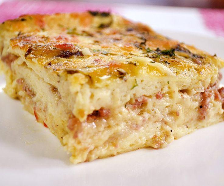 Receta: Pastel souflé de carne con hongos