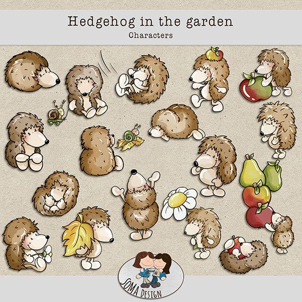 SoMa Design Hedgehog In The Garden Characters
