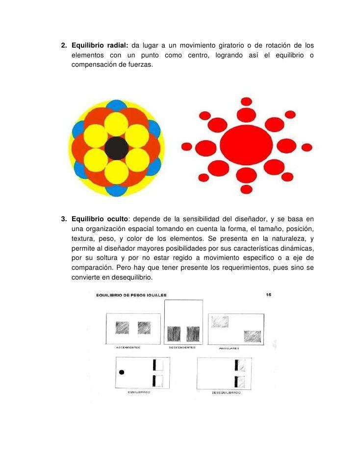 2. Equilibrio radial: da lugar a un movimiento giratorio o de rotación de los   elementos con un punto como centro, logran...