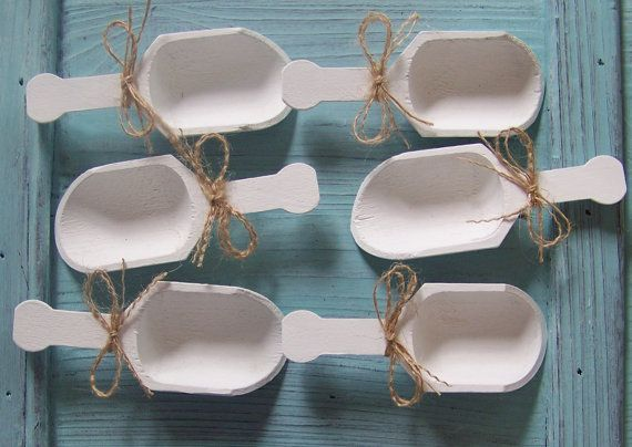 """4 Wooden Candy Scoops, PLEASE NOTE: 4"""" LONG for Wedding Candy Table-Grooms Table on Etsy, $16.00"""