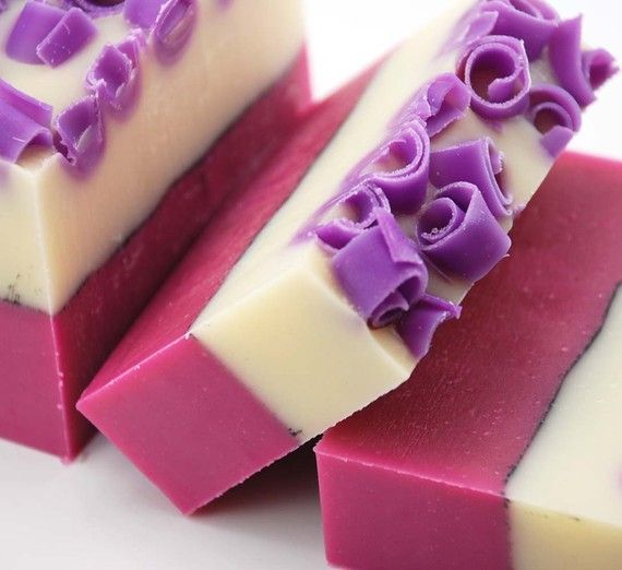 Rapsberry Vanilla Soap Loaf, 2 pounds Cold Process Soap