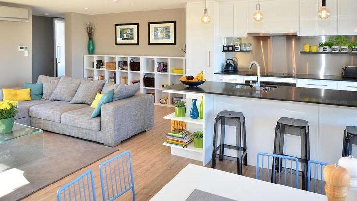 Ben & Libby's living area on The Block NZ, by Haven Building Concepts www.havenbuildingconcepts.co.nz