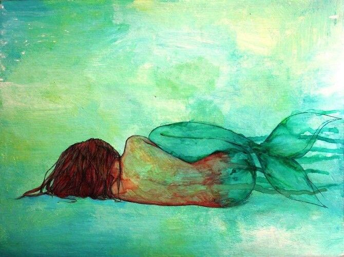 Mermaid watercolor | Art. | Pinterest