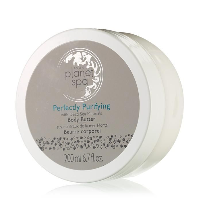 Planet Spa Perfectly Purifying with Dead Sea Minerals Body Butter | Avon Metallica www.youravon.com/ annecoddington
