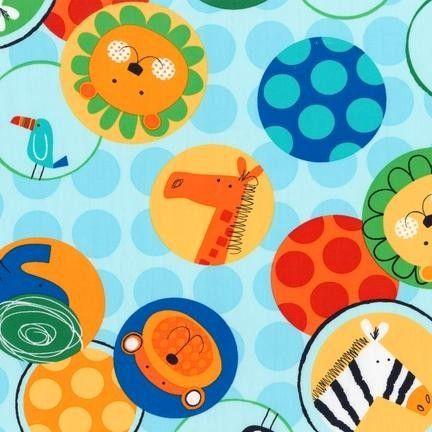 Patchwork anyag - Robert Kaufman - Jungle Creatures AAS-14236-195 Bright - Art-Export webáruház