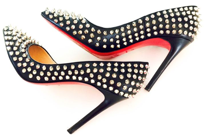 Christian Louboutin Pigalle Spikes Red Sole Pump