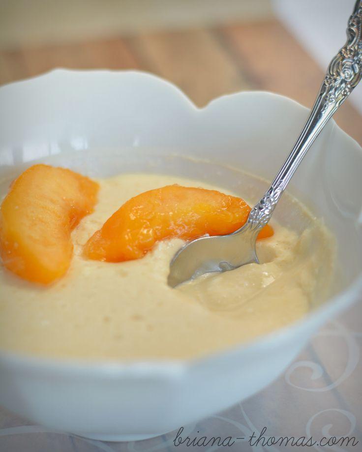 Creamy Peach Pudding (THM:E)