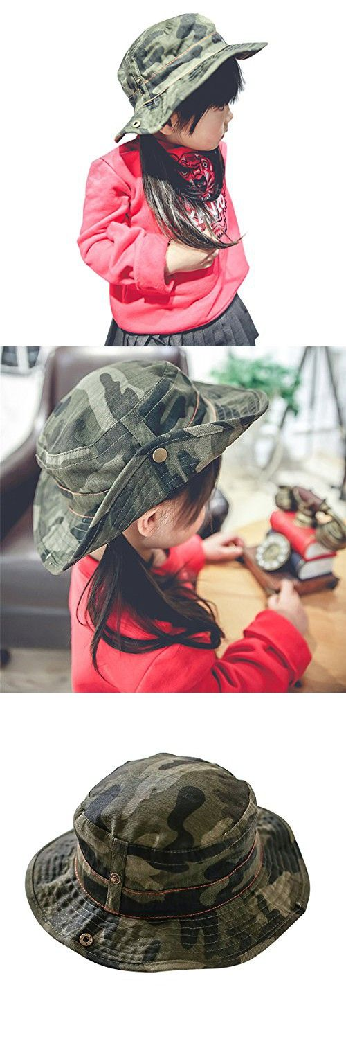 Toddler Floppy Hat kids Sun Hat with Chin Strap Unisex Baby Sun Protection Hat (6 - 18 Months, Camouflage)