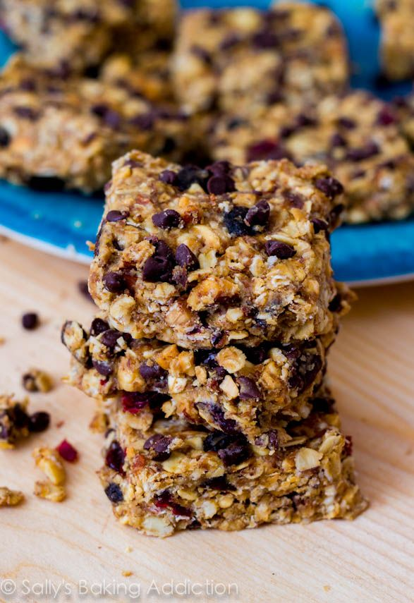 Loaded Peanut Butter Bars - healthy, easy, no-bake, and actually good for you! I make these often to have on hand for a healthy snack.
