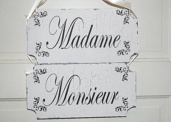 Madame Monsieur Thank YOU Wedding Signs Wedding by familyattic, $43.95