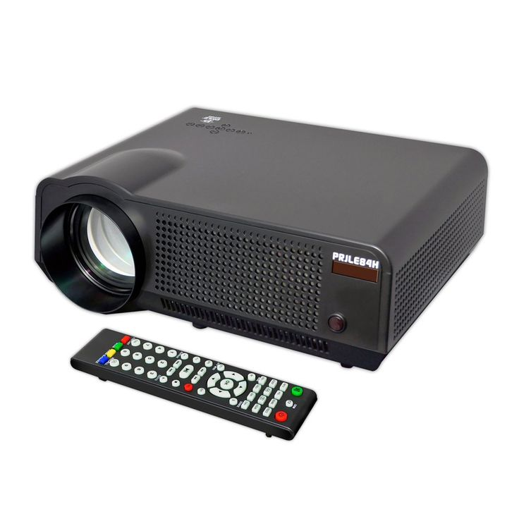 Pyle Video Projector Full HD 1080p Picture, Video & Cinema Home Theater Projector-Built-in Speaker, LCD+LED Lamp, HDMI & USB Inputs for TV Movies, PC Games, Business Offices' Powerpoint Presentations, Computers & Laptops