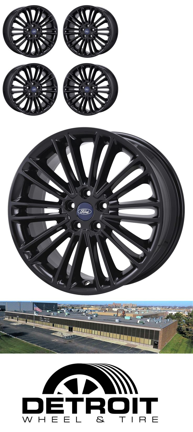 Auto parts general 18 ford fusion black wheels rims factory oem 2015 2016 2017