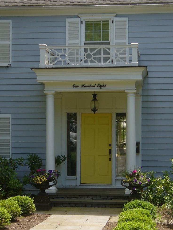 Gray House Yellow Door. Free Fantastic Front Door Makeovers. Perfect ...