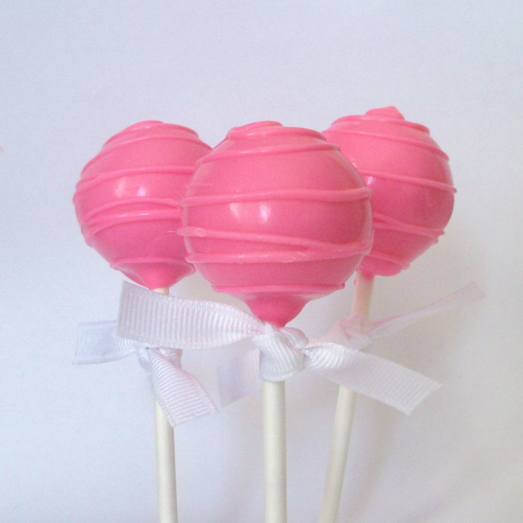 Hot Pink Cake Pop - Drizzled. via Etsy.