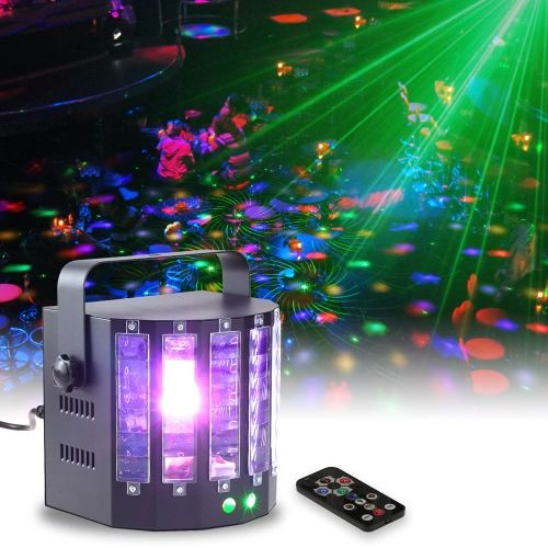 18W 9 Colors 9 LED 2 Channel Remote Control Dual Sword Butterfly Stage Light