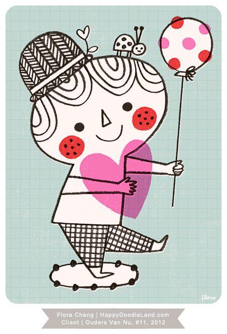 Illustrator: Flora Chang | Happy Doodle Land, Client: Ouders van Nu magazine