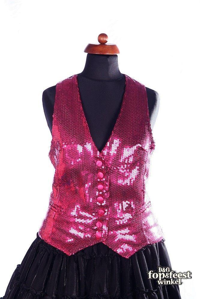 794a7688f5dce2 Gilet of glitter vest voor dames in gevoerde uitvoering en met echte  pailletten koopt u op