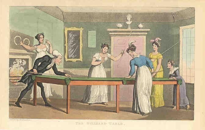 The Billiard Table Tours of Dr. Syntax (England , Mid-1800s)