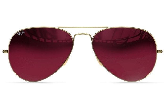 Brushed Bronze / Red Mirror RB3025 AVIATOR LARGE METAL by Ray-Ban | DITTO