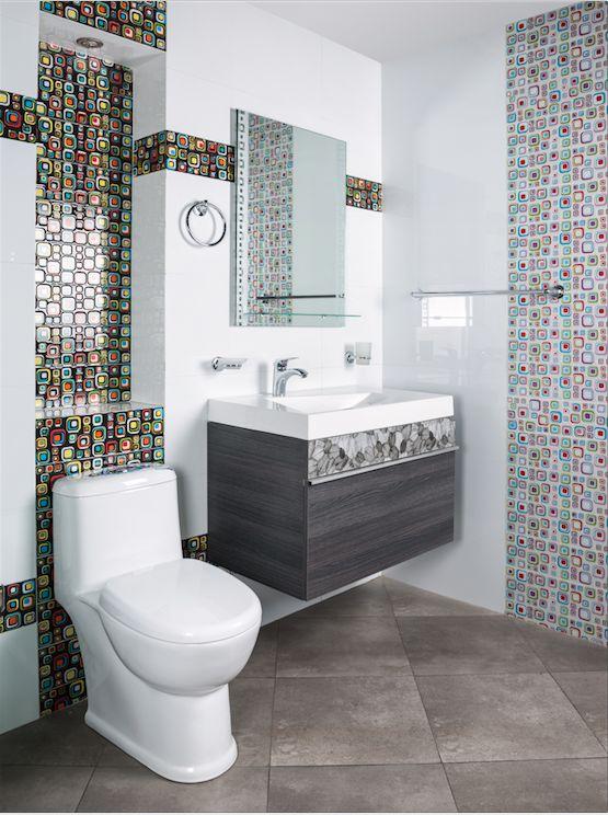 Mezcla diferentes texturas y colores para lograr dise os for Disenos de banos pequenos con ducha modernos