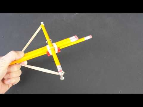Easy Pencil Crossbow in Action