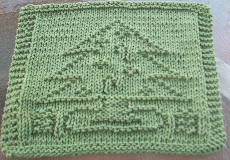 Groovy Mom Crafty - Free Knitting Patterns - Idiot's Dishcloth