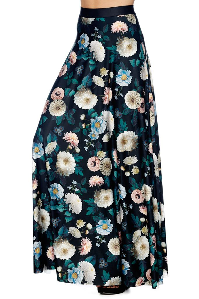 Not Mama's Garden Maxi Skirt - LIMITED (AU $120AUD) by BlackMilk Clothing