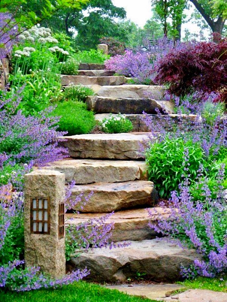 Garden Path With Stone Stairs | Clipboards