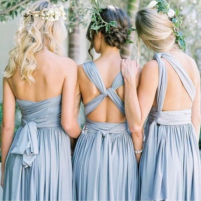 Because you each of your #Bridesmaids for different reasons... change the wrap to change the look! The #TWIST Dress by #DessyGroup
