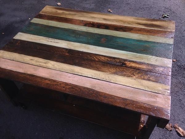 Old Pallet Table with Wheels | 101 Pallets